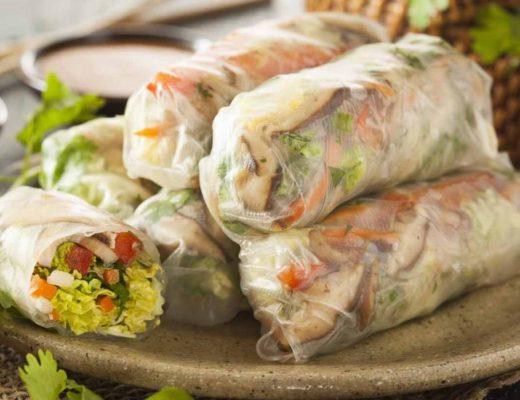 Rollitos asiáticos de carne