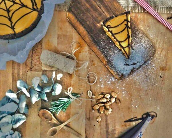 Preparación Pastel de calabaza halloween nutt