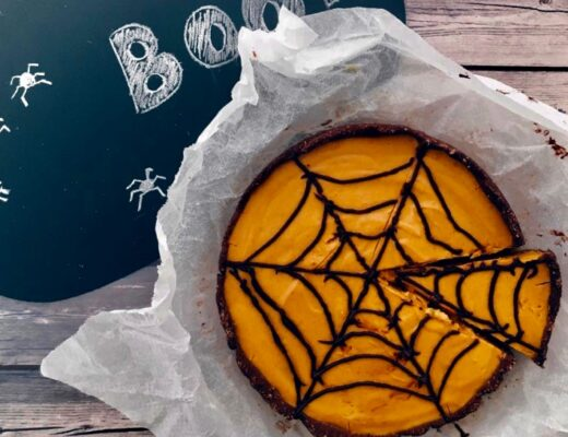 Pastel de calabaza halloween nutt