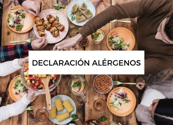 Declaración de alergenos