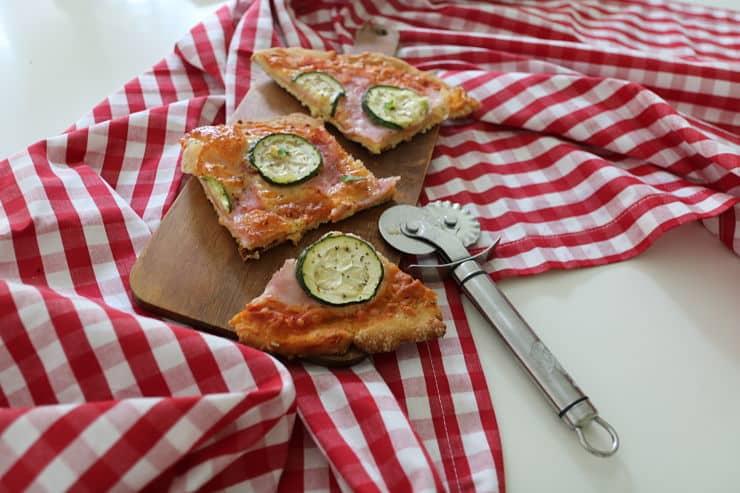 Pizza con base de garbanzos