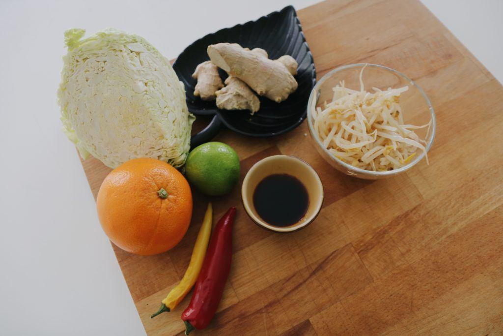 Ingredientes ensalada de col con salsa agridulce