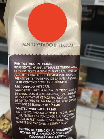 Pan integral etiqueta 8