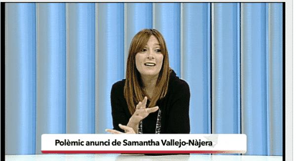Anuncio Mc Donalds y Samanta Vallejo