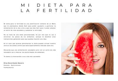 Dieta para la Fertilidad