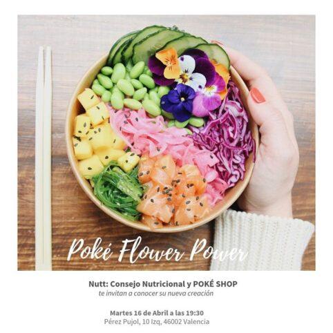 Invitación Poke Flower Power