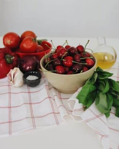 Ingredientes Gazpacho de cerezas