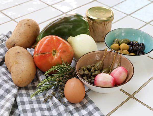 Ingredientes ensalada de patata
