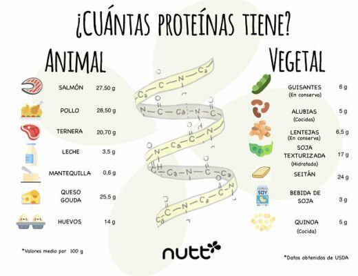Proteínas animales vs. vegetales