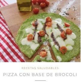 receta pizza con base de brocoli nutricionista valencia nutt