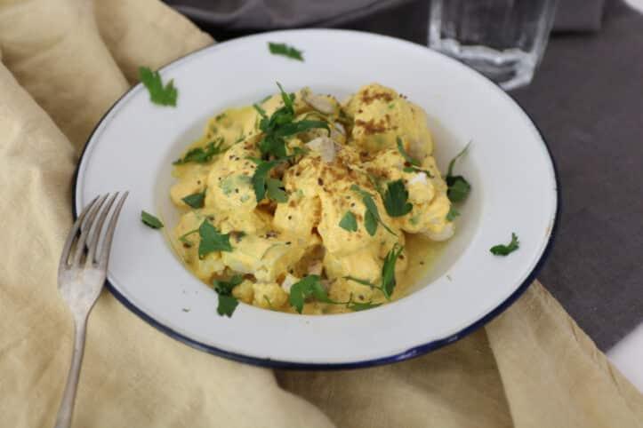 Coliflor al curry nutricionista valencia