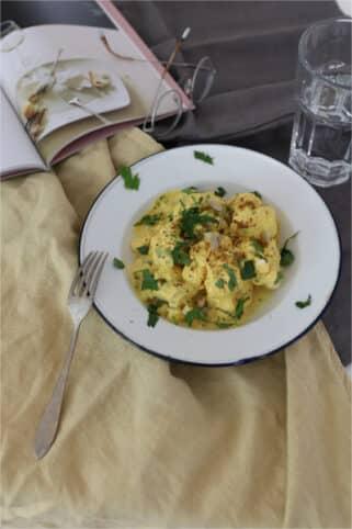 Ingredientes Coliflor al curry nutricionista valencia