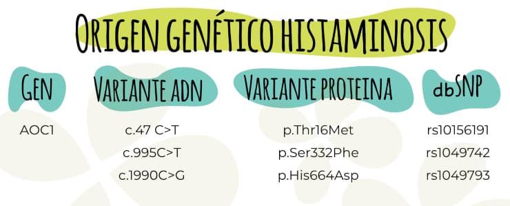 Origen genético de la histaminosis