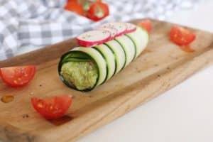 Canelón de calabacín con guacamole nutricionista valencia