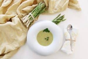 Crema de espárragos receta nutricionista valencia