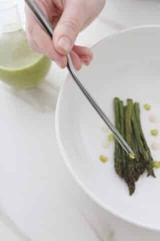 Espárragos en tres texturas nutricionista Valencia Nutt