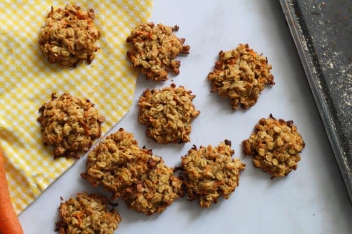 Galletas de zanahoria saludables nutricionista Valencia