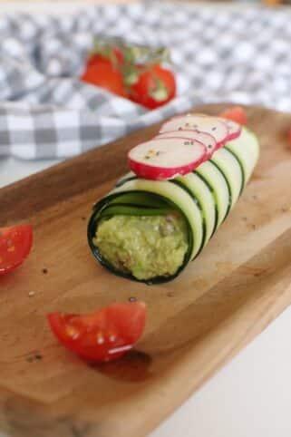 Ingredientes Canelón de calabacín con guacamole nutricionista valencia