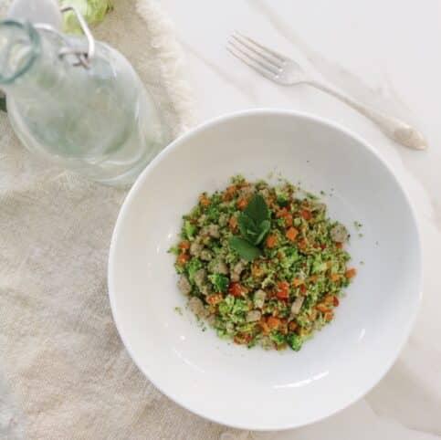 Ingredientes cous cous de brócoli nutricionista valencia