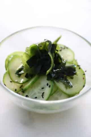 Ingredientes Ensalada de pepino asiática nutricionista Valencia