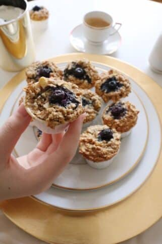 Ingredientes Muffins de manzana y avena nutricionista Valencia