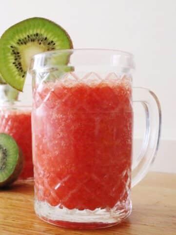 Ingredientes Smoothie de fresas y naranja saludables nutricionista Valencia