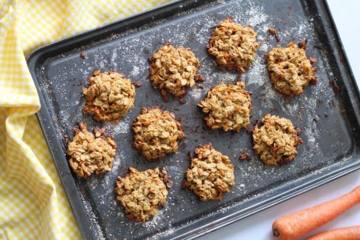 Receta galletas  zanahoria saludables nutricionista Valencia