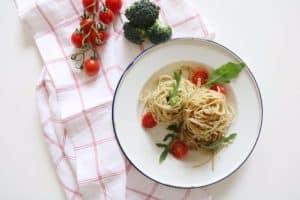 Receta de espagueti con pesto de brócoli nutricionista Valencia