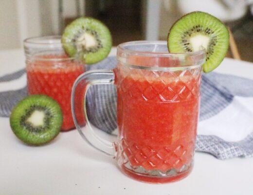 Smoothie de fresas y naranja saludables nutricionista Valencia
