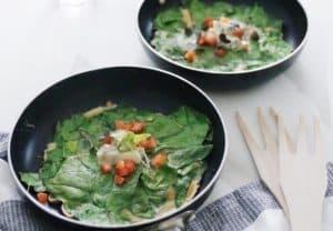Tortilla vaga de espinacas nutricionista valencia