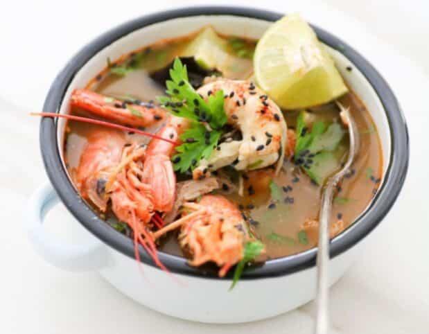 Gambas al curry saludables nutritionist valencia