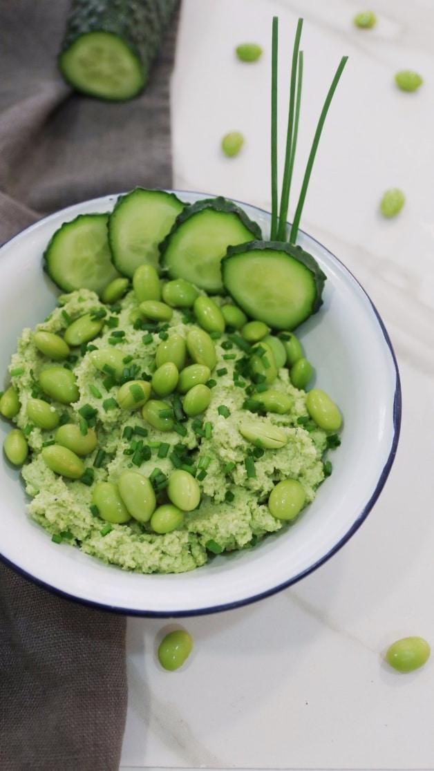 Ingredientes Hummus de edamame nutricionista valencia