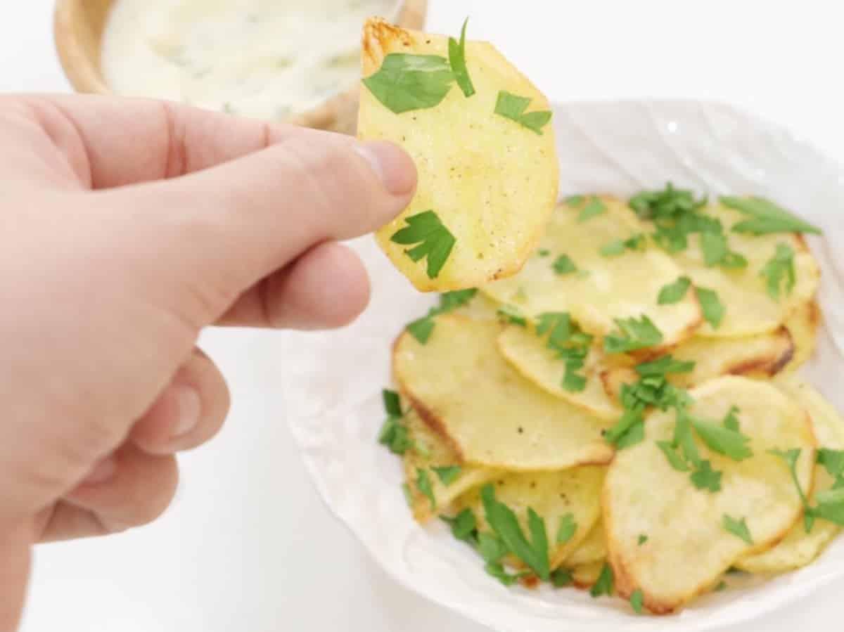 Chips de patata saludable nutricionista