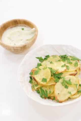 Ingredientes chips de patatas saludables