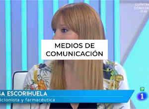 Medios de comunicación nutricionista