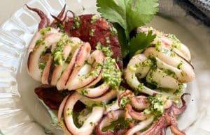 Calamar con cilantro