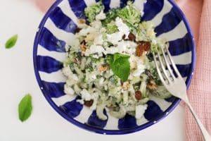 Ensalada verde de apio y brócoli