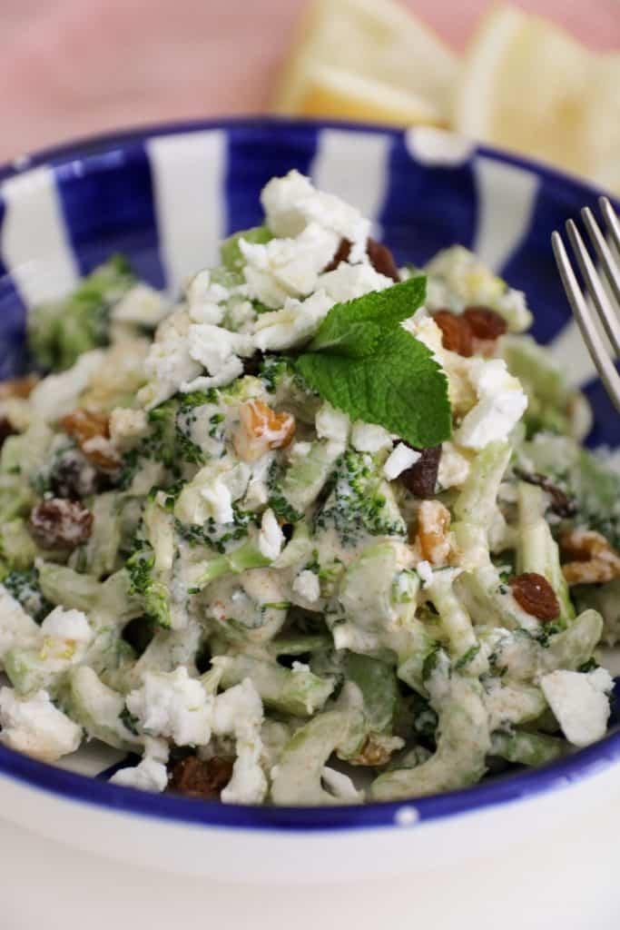 ingredientes ensalada verde de apio y brócoli